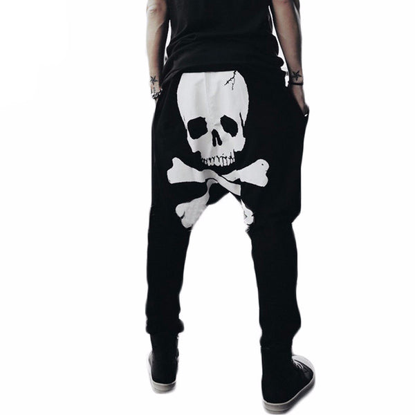 Skull Printed Men's Harem Pants - Shop Now at www.appleandjuice.com