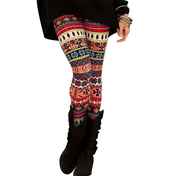 Autumn Feel Geometric Leggings