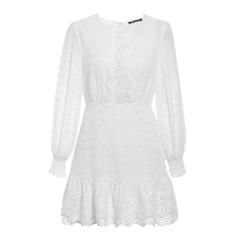 AMOUR Lace Detail Skater Dress