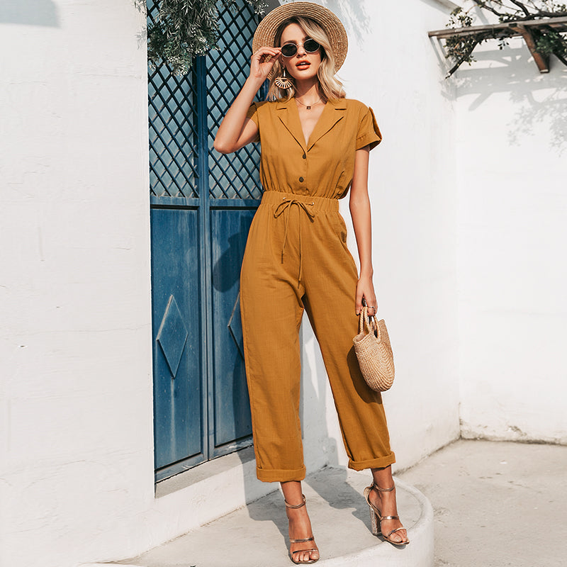 MARGE Short Sleeve Jumpsuit