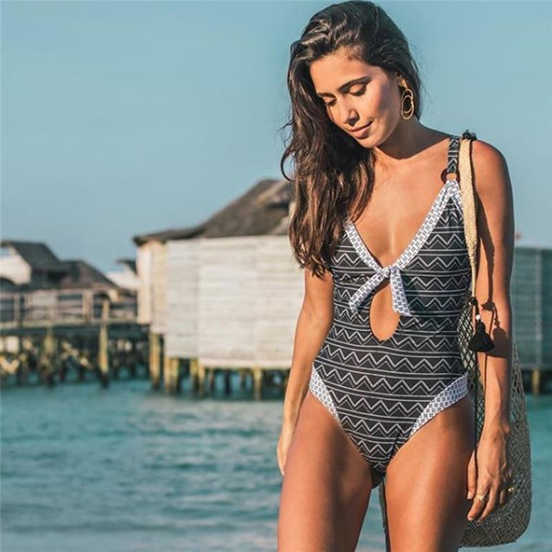 TYZA Striped One Piece Swimsuit - bahia blue boutique - Swimsuit