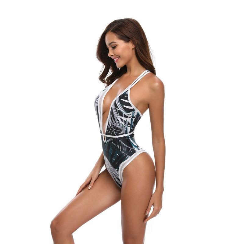 LAND & SEA Deep V One Piece Bikini - bahia blue boutique - Body Suits