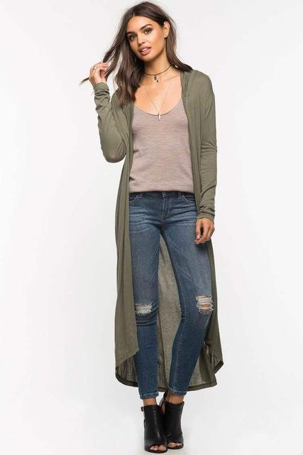 HYGEIA Hooded Cardigan - bahia blue boutique - Cardigans