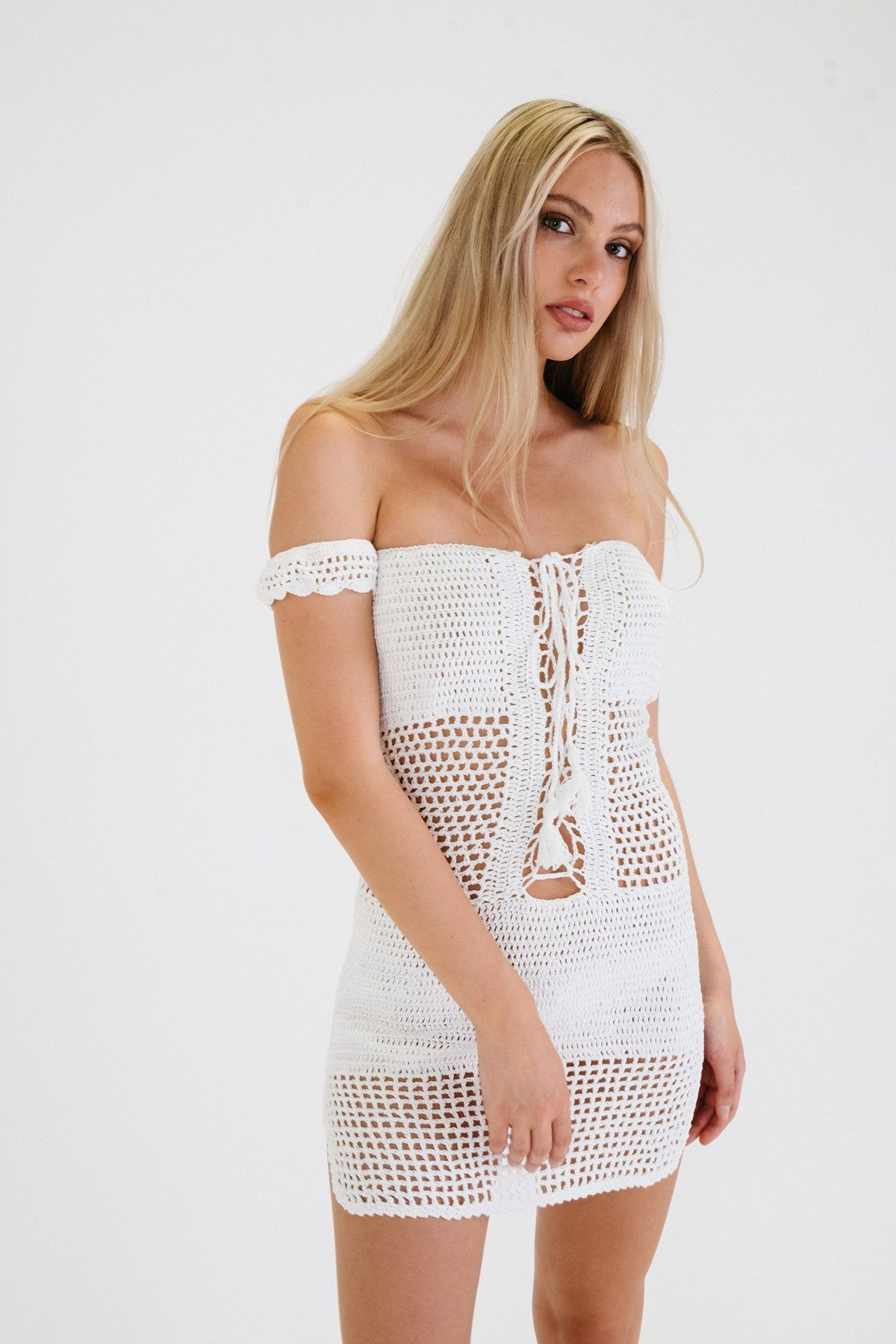 MONACO Mesh Beach Dress - bahia blue boutique - Dress