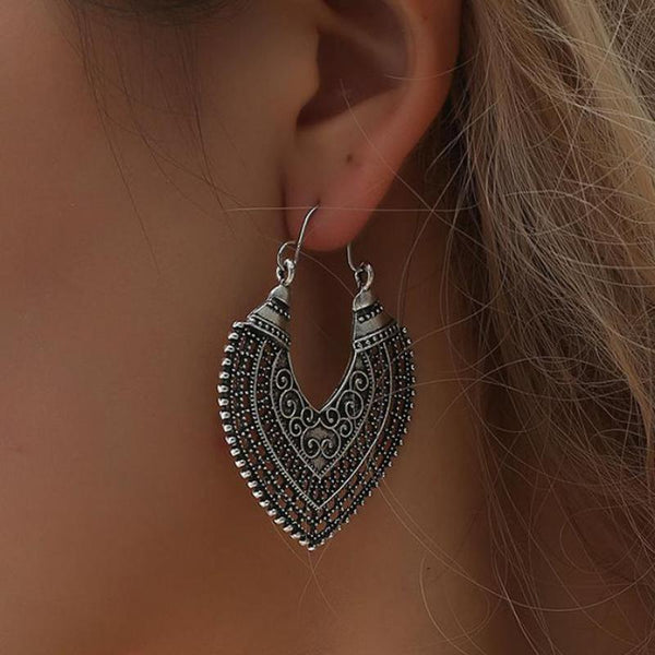 BELLATRIX Antique Silver Earrings - bahia blue boutique - Earrings