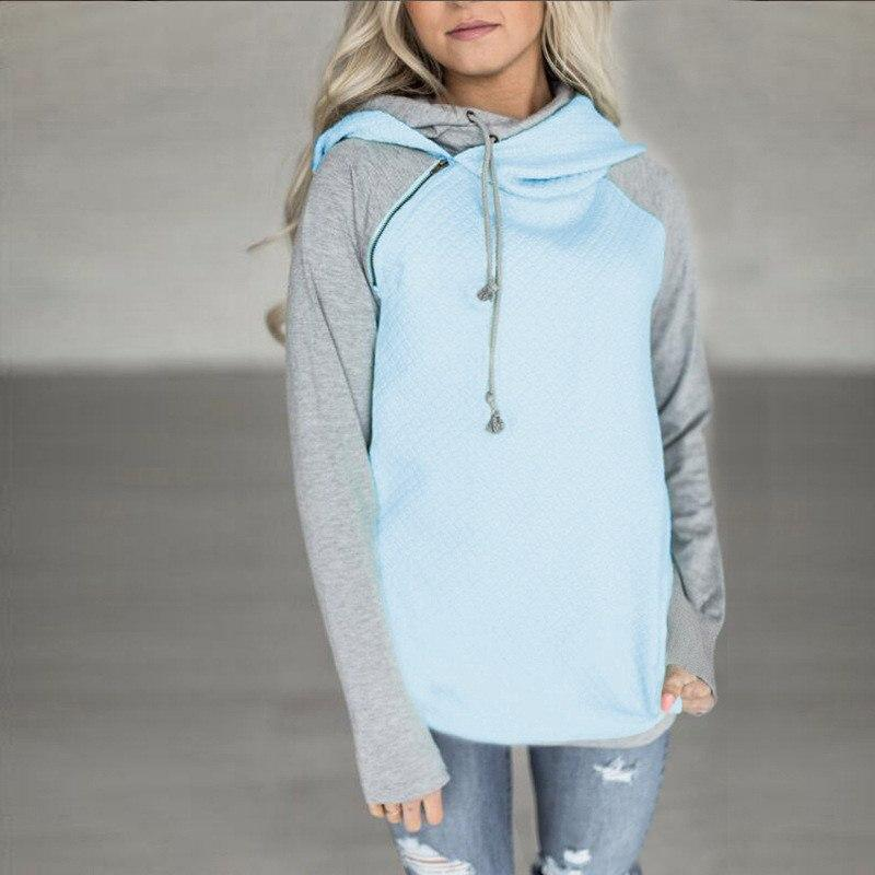 ROCHELLE Color Block Hoodie - bahia blue boutique - Hoodies