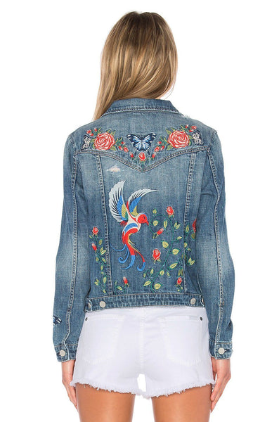 Jackets - BELLA Embroidered Jean Jacket