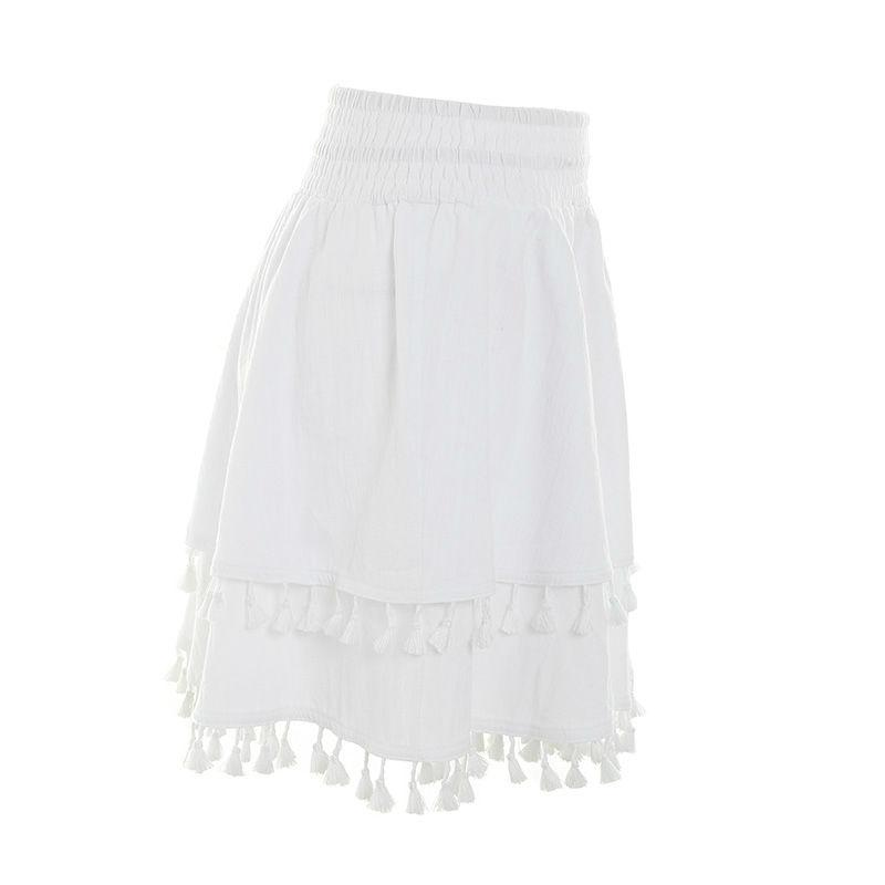 PRAIRIE High Waist Tassel Skirt - bahia blue boutique - Skirts