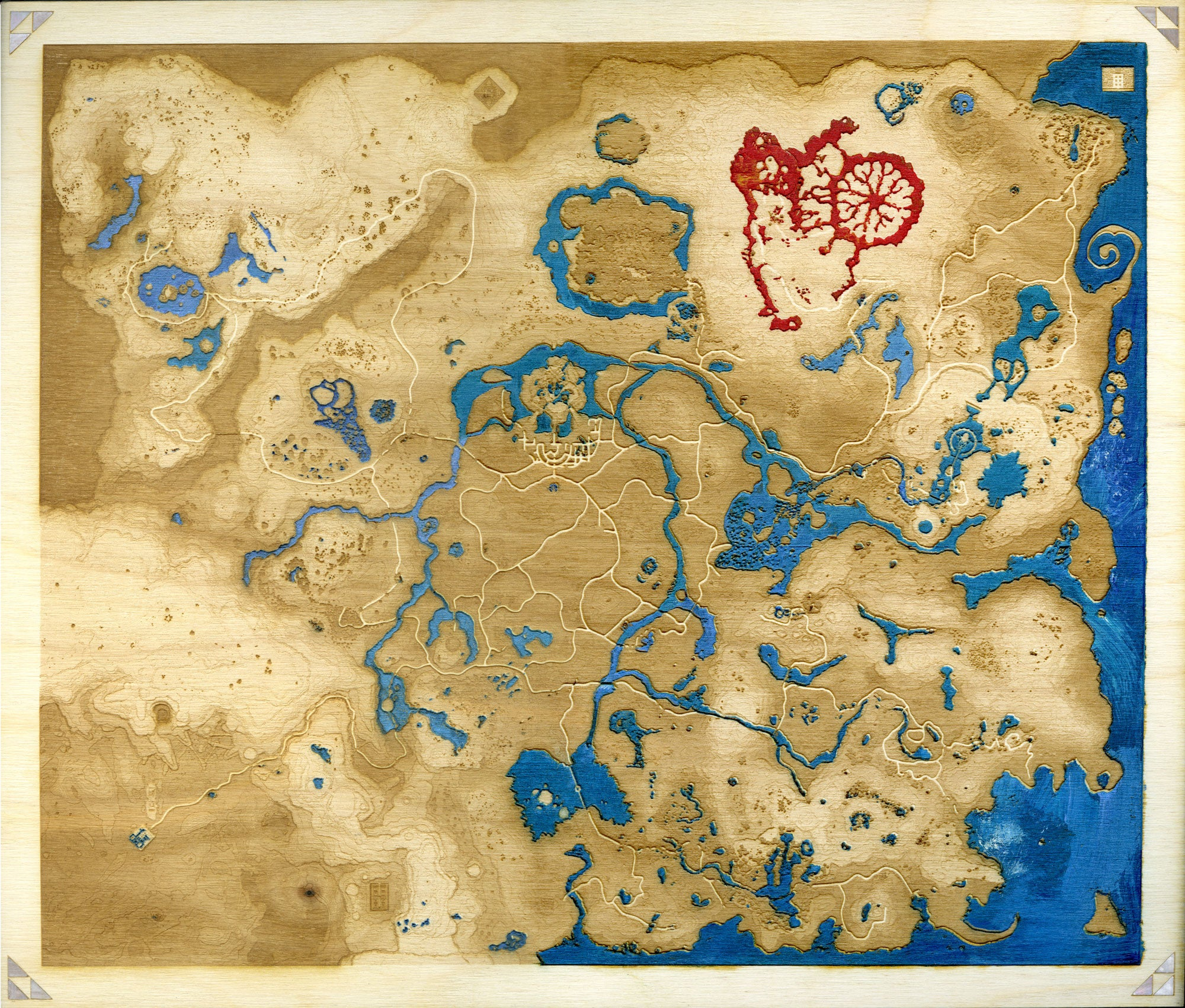 Map Of Hyrule Engraved Hylian Map – The Daily Robot