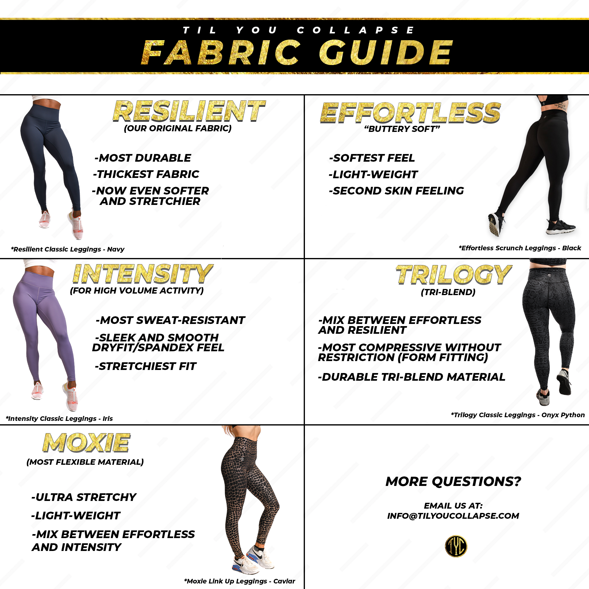 Til You Collapse Fabric Guide
