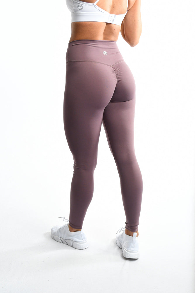 Effortless Scrunch Leggings- Mauve