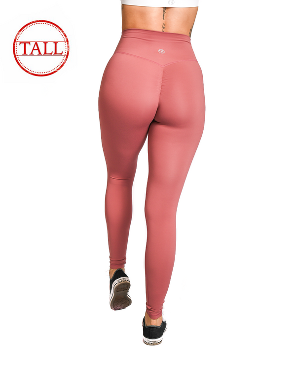 "31"" Effortless Scrunch Leggings- Sunkissed Coral"
