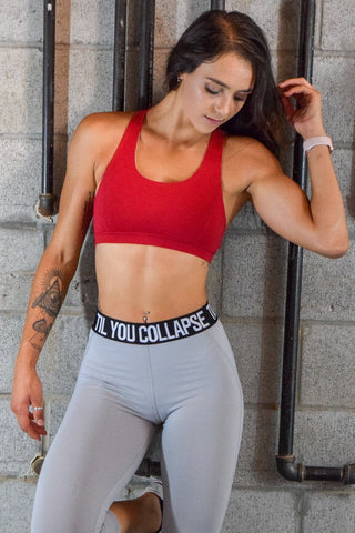Premium Crisscross Crop Top/Sports Bra