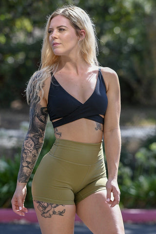 Premium Forest Green Heart Booty Leggings