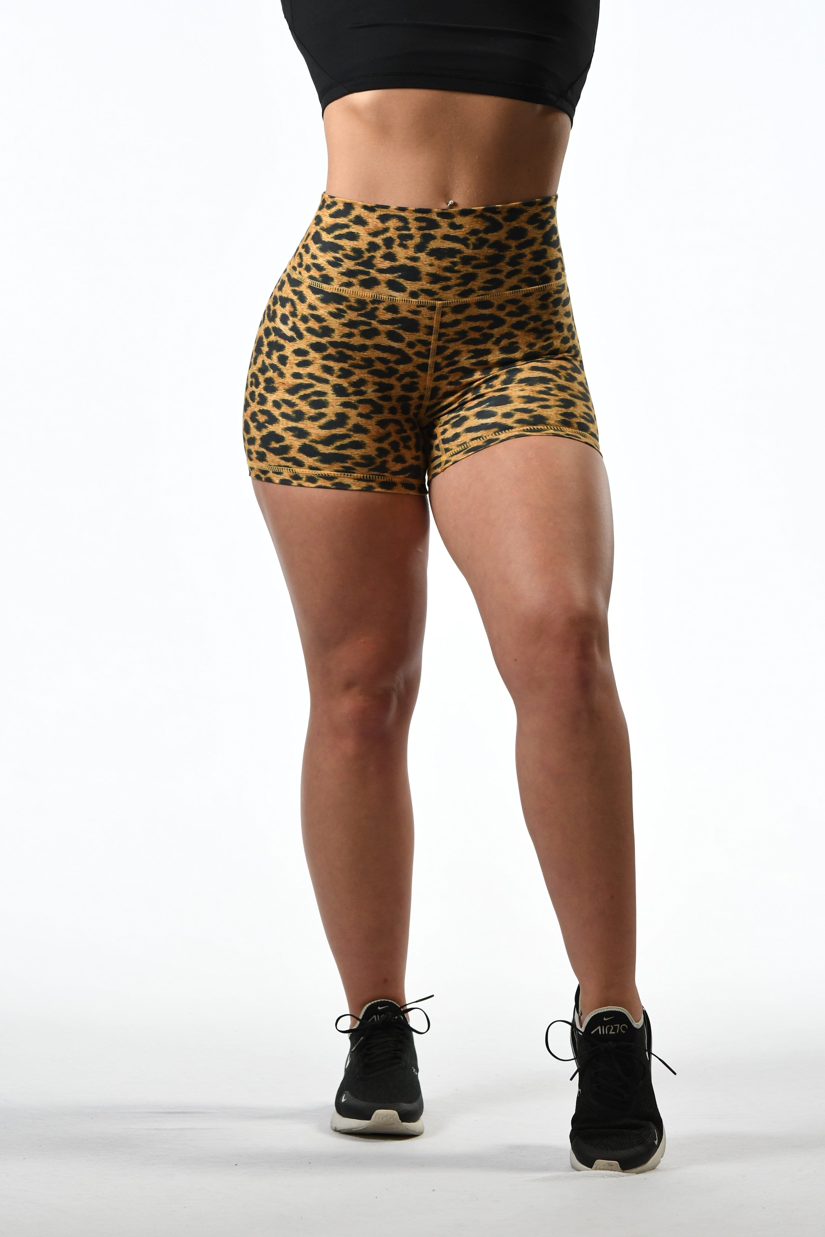 Effortless Scrunch Shorts- Sunset Leopard