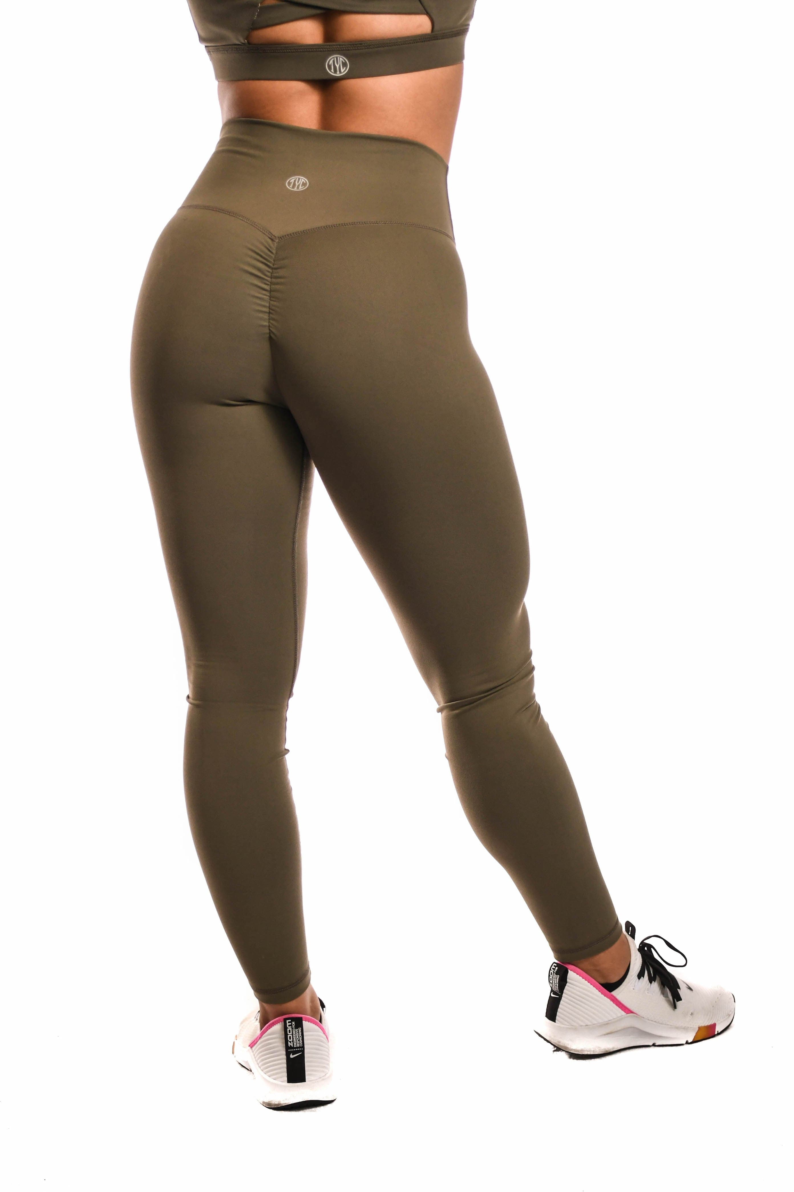 Resilient Scrunch Leggings- Army
