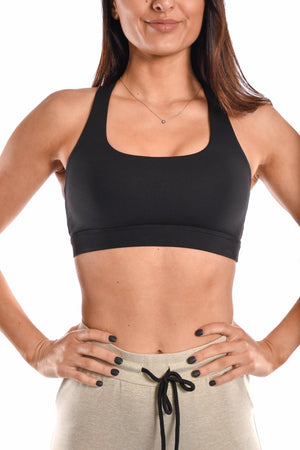 Load image into Gallery viewer, Black sports bra