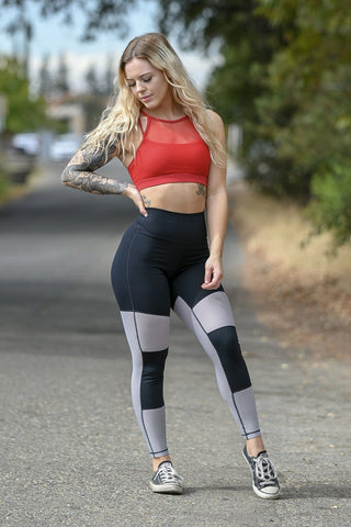 Silver Heart Booty Leggings