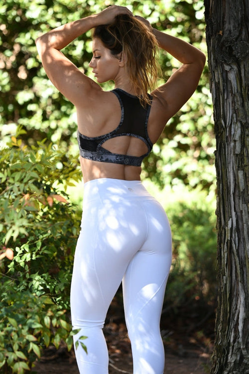 Resilient Heart Booty Leggings- White