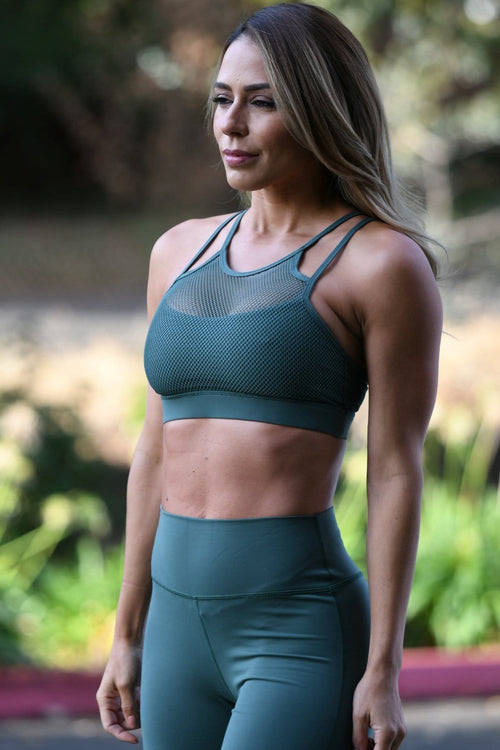 Premium Fishnet Sports Bra