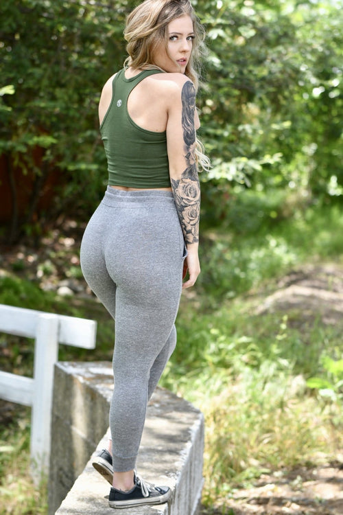 Premium Lightweight Heather Grey Joggers
