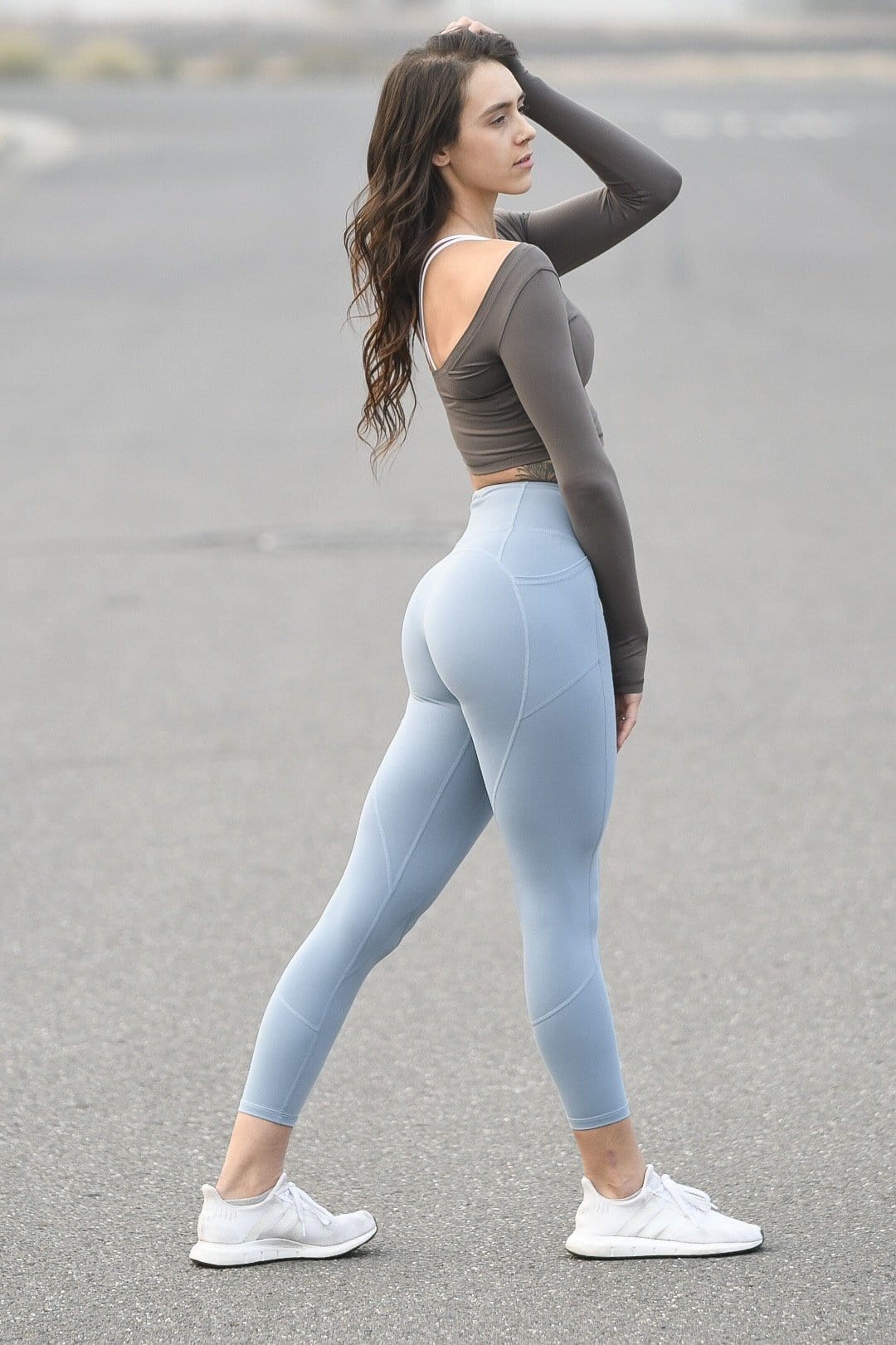 Resilient Heart Booty Leggings- Slate Blue