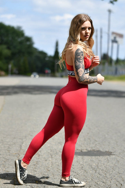Resilient Classic Leggings- Red