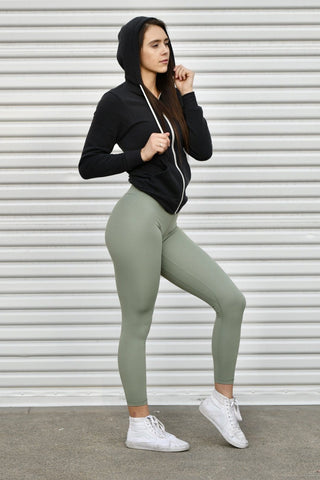 New Stretch Material Black Classic Leggings