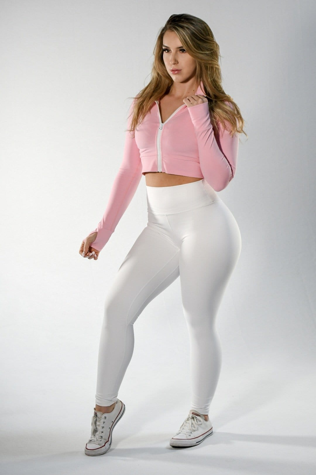 Resilient Scrunch Leggings- White dual layer