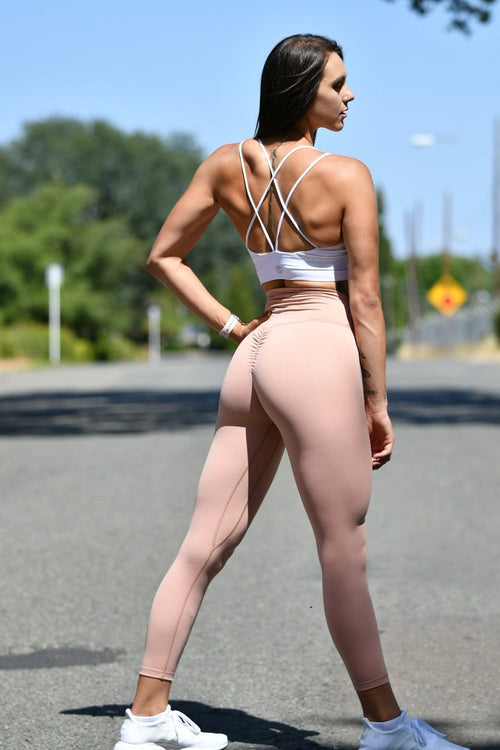 Resilient Scrunch Leggings- Nude