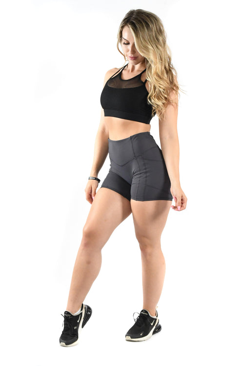 Intensity Heart Booty Shorts- Ash