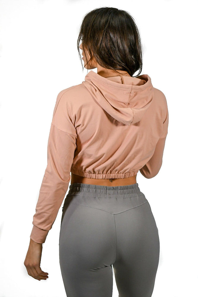 Load image into Gallery viewer, Premium Cropped Scrunch Hoodie