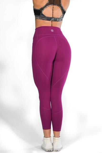 Resilient Heart Booty Leggings- Plum
