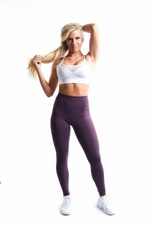 Effortless Classic Leggings- Plum