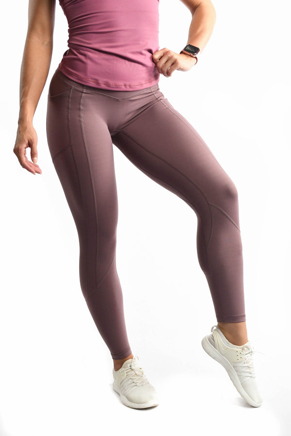 Effortless Heart Booty Leggings- Mauve