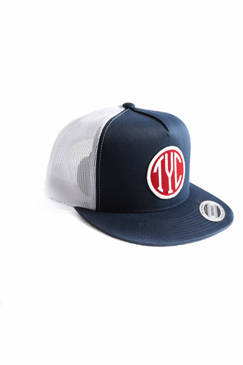 Trucker Snapback- Blue/Red