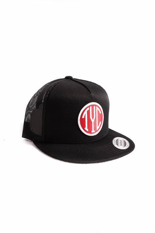 Trucker Snapback- Black/Red