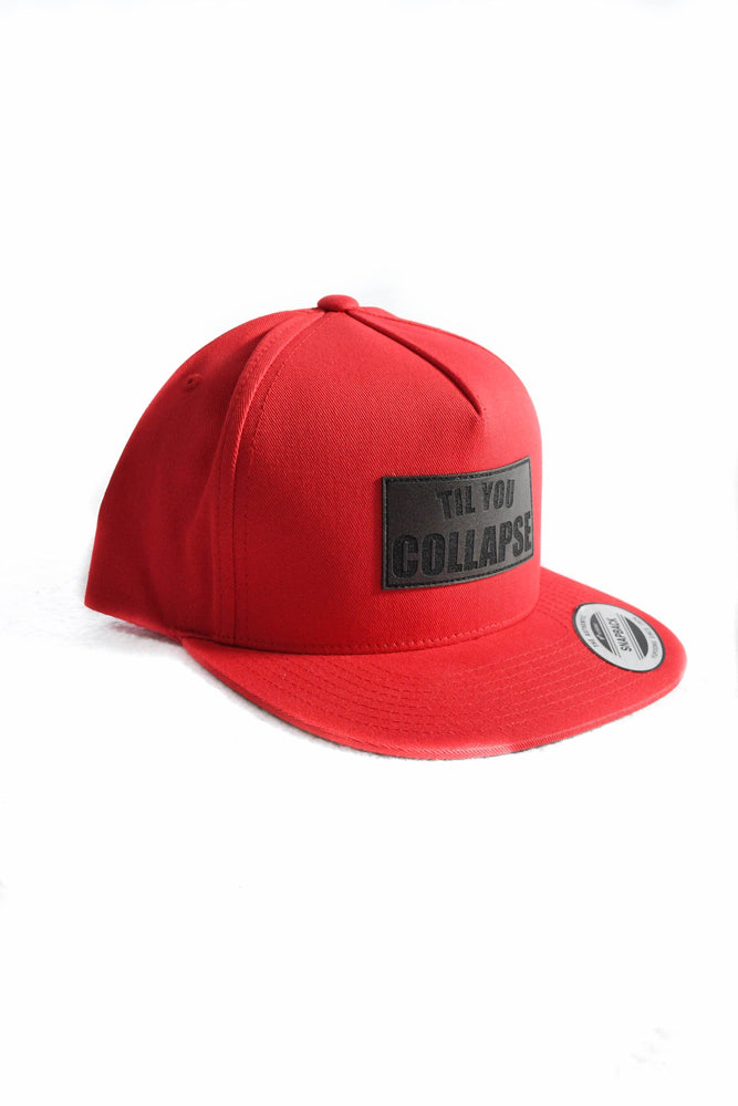Snapback- Red Square Patch