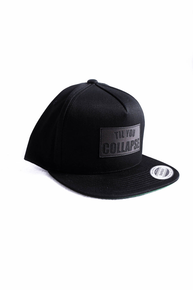 Snapback- Black Square Patch