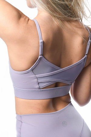 Load image into Gallery viewer, Sweet pea mesh back of sports bra