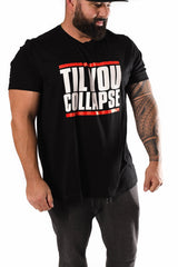 Til You Collapse T-shirt- Red/Black