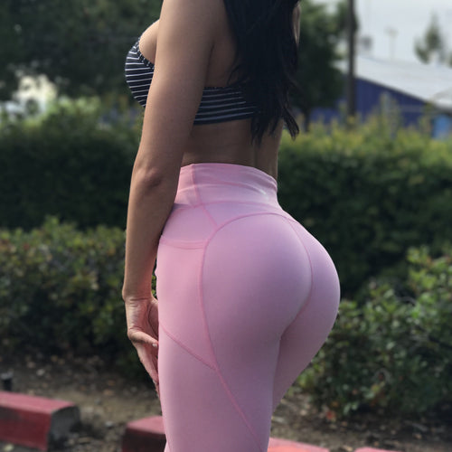 Resilient Heart Booty Leggings- Pastel Pink