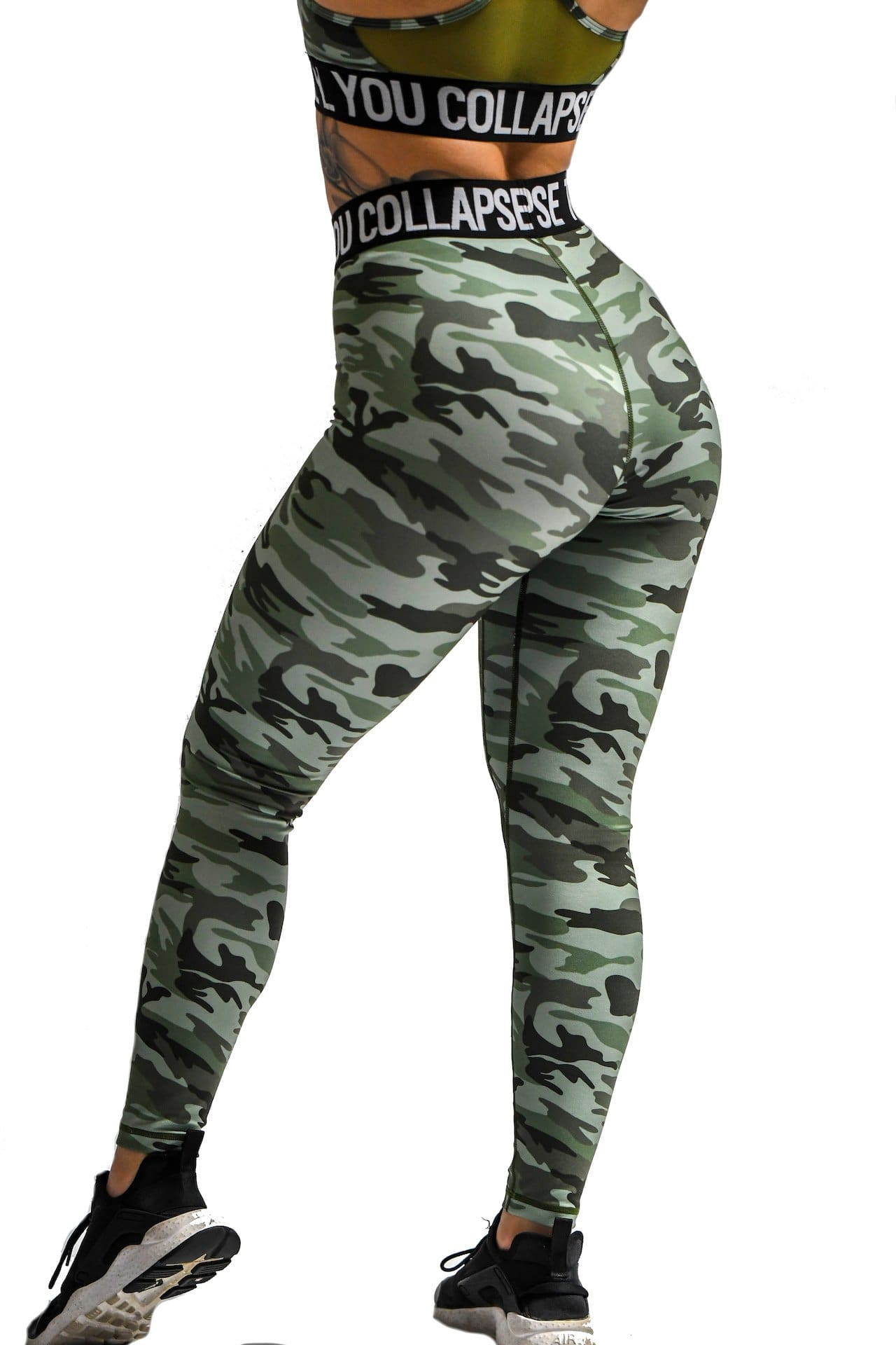 Effortless Branded Leggings- Green Camo