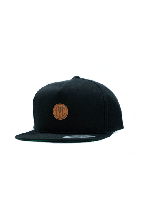 Tyc Snapback- Black w/ Circle Patch