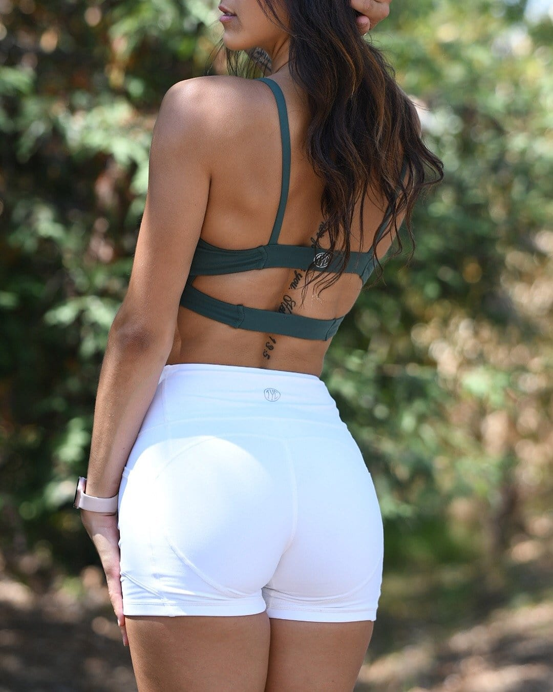 Resilient Heart Booty Shorts- White