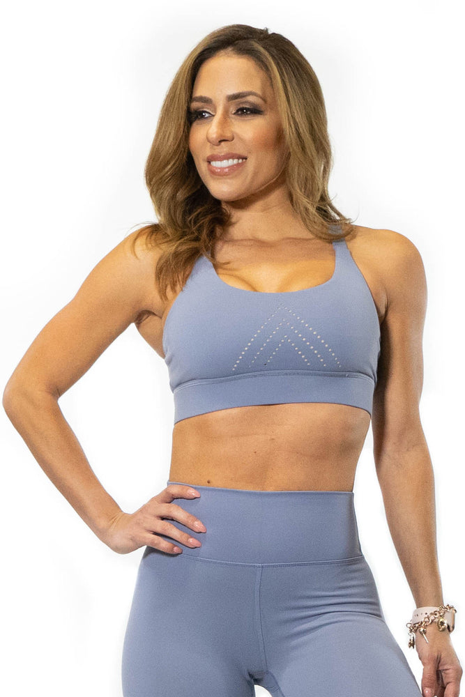 Periwinkle sports bra