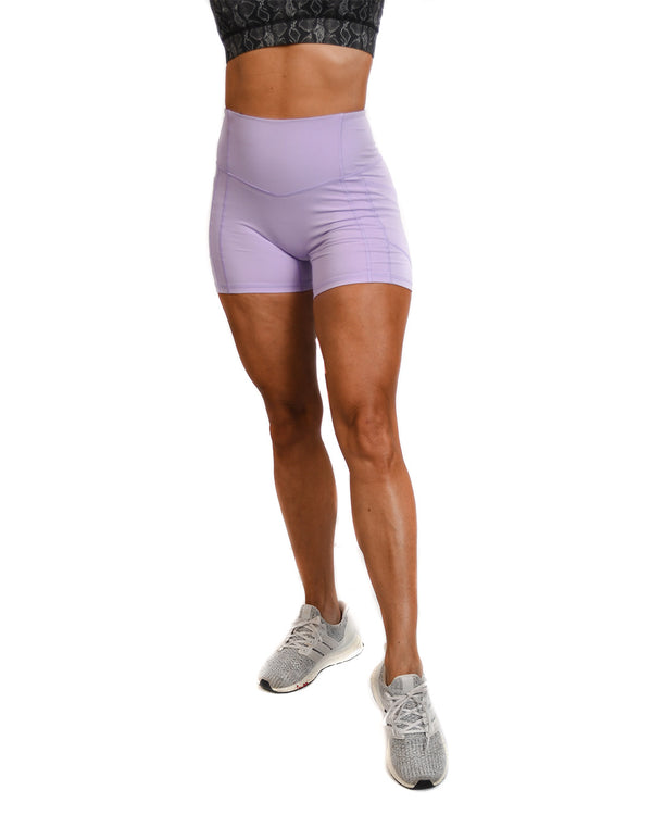 Effortless Heart Booty Shorts- Lavender
