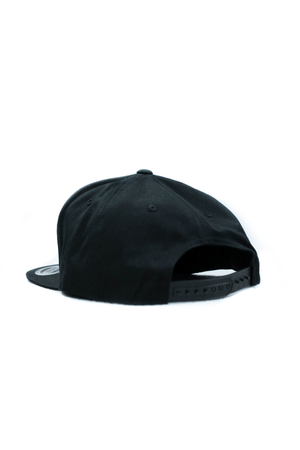 Trucker Snapback- Black w/ Square Patch