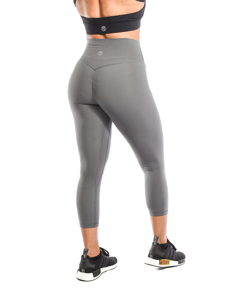Effortless Scrunch Capris- Steel