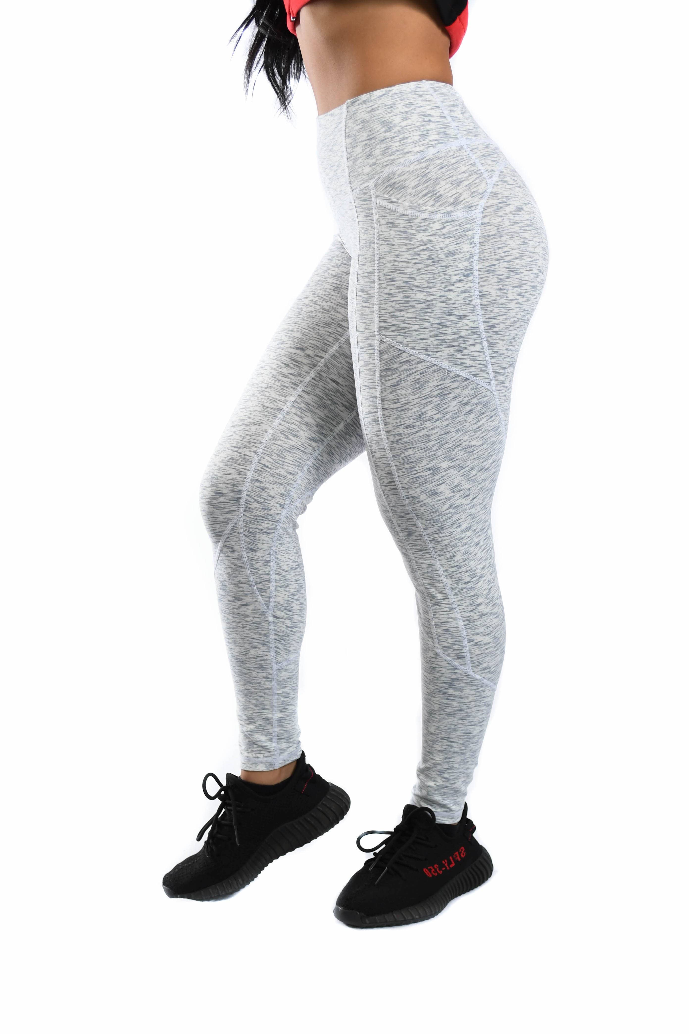 Resilient Heart Booty Leggings- Speckled Grey